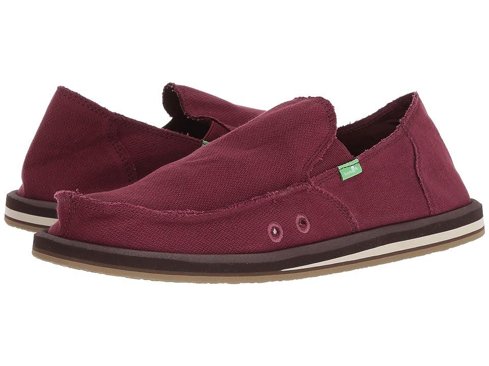 9446eaf297 Sanuk Hemp (Burgundy) Men s Shoes