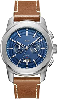 JBW Mens Quartz Watch, Analog Display and Leather Strap J6352D