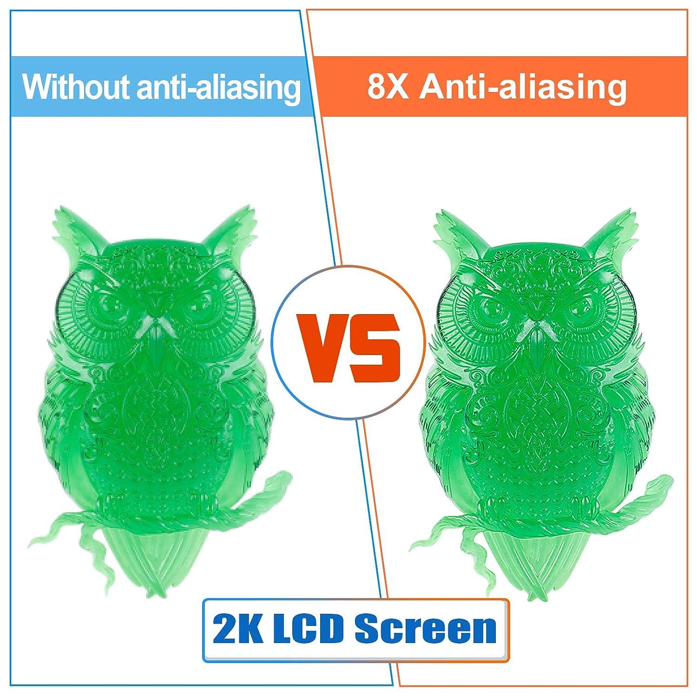 Mingda dimensioni di stampa 119 x 67 x 160 mm Stampante 3D per fotocurazione UV con display HD 2K filtro dellaria con schermo a colori Smart Touch da 3,5 giallo