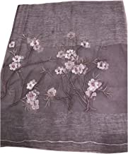 Women's Fashion 100% real Silk and Wood Scarf with Stitched Pattern