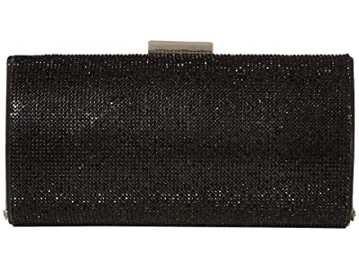 Jessica McClintock Ryan (Jet Black) Clutch Handbags