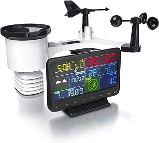 Brandson - Estación Meteorológica radio WiFi - Sensor Exterior - Barómetro - Temperatura interior y jardín – Previsión – M...