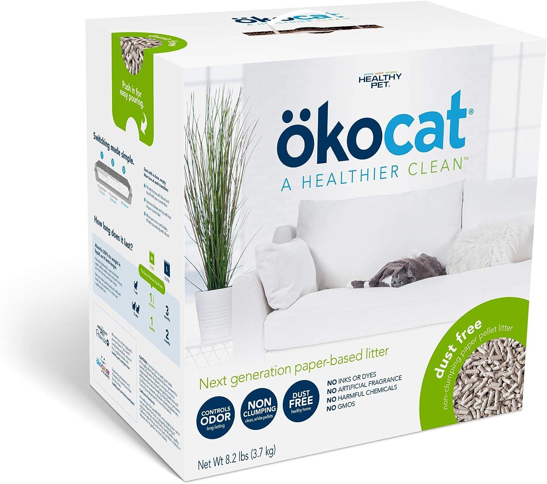 ökocat Ranking TOP13 Dust-Free Natural Paper Max 74% OFF Non-Clumping Cat Litter Pellets w