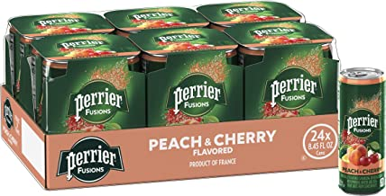 Perrier Fusions, Peach and Cherry Flavor, 8.45 Fl Oz. Cans (24 Count)