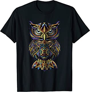 Geometric Owl Art Wise Angry Owl for men, women and kids T-Shirt