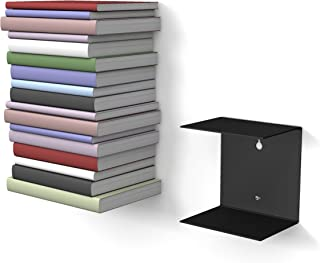 1Negro Invisible estante con 2compartimentos para libros hasta 22cm de profundidad.