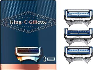 King C. Gillette Men's Neck Shaving Razor Blades, Pack of 3 Refills, with Skinguard and Gillette's Best and Sharpest Stain...
