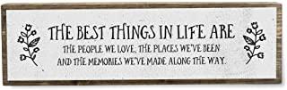 The Best Things in Life are The People We Love - Handmade Metal Wood Inspirational Signs– Inspirational Wall Art – Motivat...