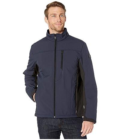 Tumi Stretch Softshell Jacket with Faux Fur Lining (Navy/Black) Men