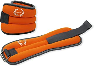 DA VINCI Adjustable Ankle Weights Sold in Pairs of 1 to 5 lbs (2 to 10 lbs per Set)
