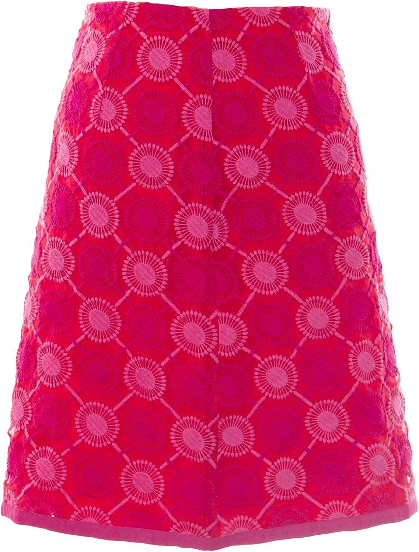 BODEN Women's Embroidered Skirt US Sz 2R Amaranth