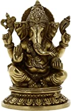 ShalinIndia Hindu Statue Ganesh Indian Sculptures Religious Gifts 5.25 Inches