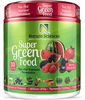 100% Natural Greens Powder, Over 10 Hard to Get Superfoods, Greens Supplement Powder 1 Month's Supply, Green Organic Blend...