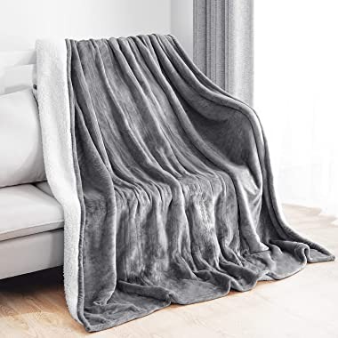 """Electric Heated Blanket Full Size 72""""x84"""" Flannel & Shu Velveteen Reversible for Whole Body Warming, ETL and FCC"""