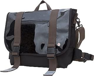 Lorimer Enamel Messenger Bag, Black, One Size