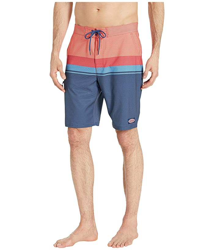 Vineyard Vines Striped Boardshorts (Mai Tai) Men