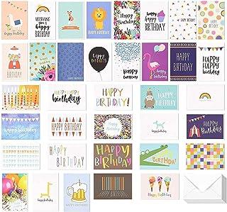 Best Paper Greetings Happy Birthday Greeting Cards (36-Pack) - Happy Birthday Greeting Cards Variety Pack - 36 Unique Desi...