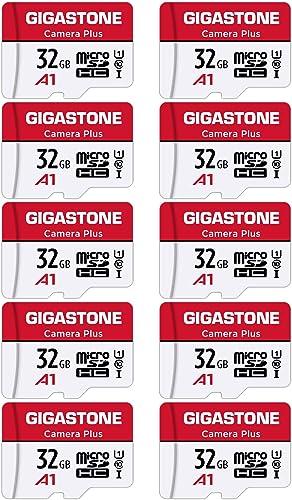 Gigastone Carte Mémoire 32 Go Lot de 10 Cartes, Caméra Plus Série, Vitesse allant jusqu'à 90 Mo/s. idéal pour Full HD...