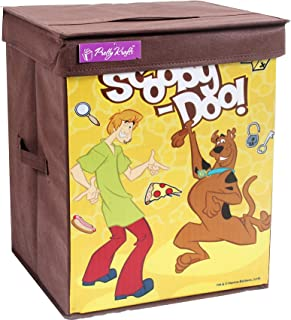 PrettyKrafts Scooby-Doo Toys Organizer Storage Box with Top Lid for Baby Boy's and Baby Girl's (Yellow, Standard Size)