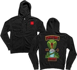 Chocolate Skateboard Zip Hoody Sweatshirt Rider Patch Black Sz S
