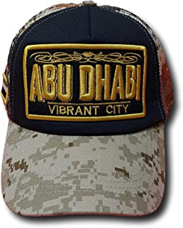 Abu Dhabi Caps Military Style Colors, Excellent for Outdoor Sports, Picnics, Excursions, Sunlight UV Protection, Ideal Gif...