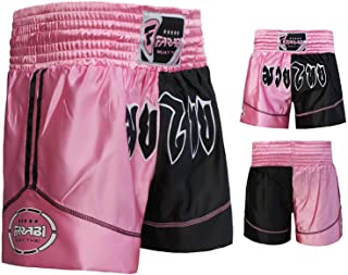 comprar comparacion Muay Thai Boxing Kick Boxing Martial Arts Shorts Pink Black Shorts