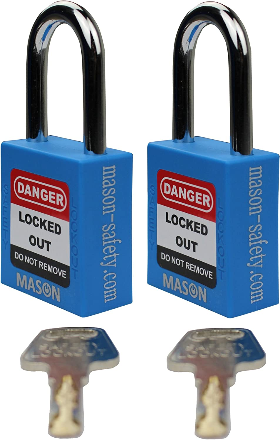 Mason Lockout Tagout 2 Pack KEYED Differently Safety Lockout Padlock, blueee Loto (2 Pack Keyed Differently)