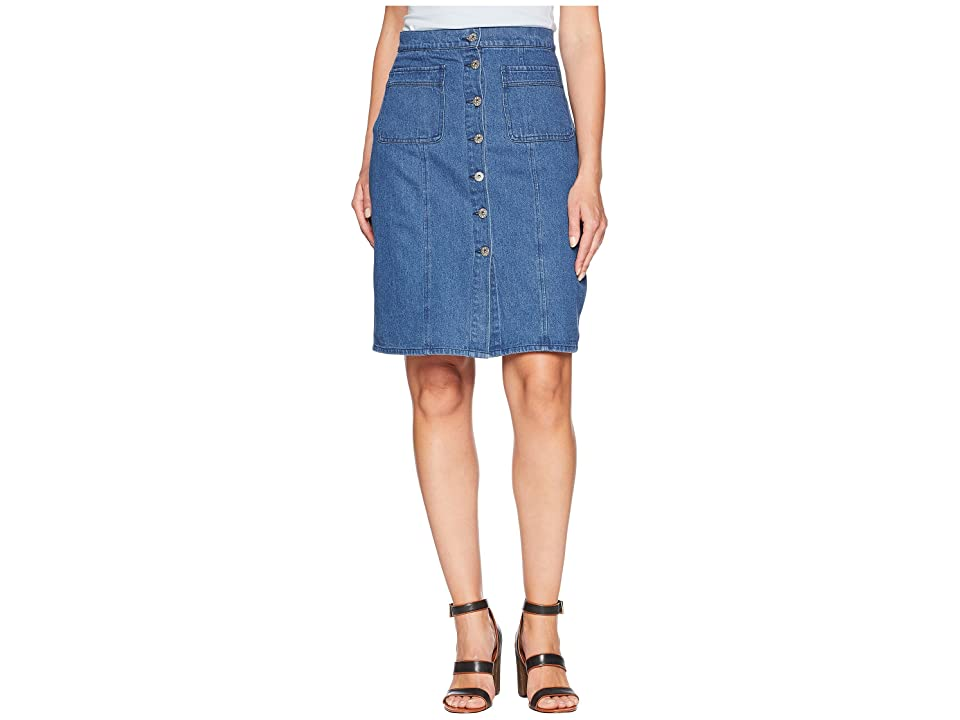 BB Dakota On Cloud Nine Denim Skirt (Dark Blue) Women