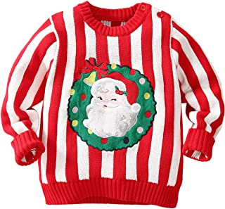 famuka Baby Boys Girls Ugly Christmas Sweater Toddlers Knitted Pullover Sweatshirt