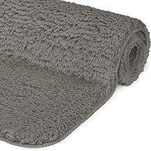 Beautissu BeauMare FL antypoślizgowa mata łazienkowa, dywan z wysokim runem, 120 x 70 cm, wygląd Shaggy, antracyt, puszyst...
