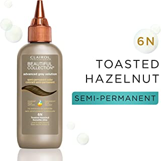 Clairol Professional Beautiful Collection, Advanced Gray Solution, Semi-Permanent Hair Color 6N Toasted Hazelnut