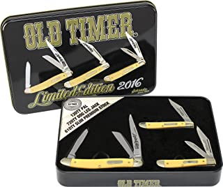 Old Timer SCPROM-16-19CP 3Piece Yellow Knife Set with Limited Edition Tin,