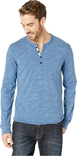 3fcf58a3d0 Lucky Brand. Long Sleeve Snow Heather Henley Tee.  30.79MSRP   49.50.  Heather Blue