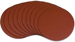 POWERTEC 110220 6-Inch PSA 120 Grit Aluminum Oxide Adhesive Sanding Disc, 10-Pack