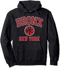 Bronx NYC Varsity Style Red Print Pullover Hoodie