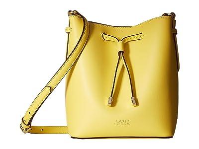 LAUREN Ralph Lauren Dryden Debby II Mini Drawstring (Lemon Sorbet/Alpaca) Handbags
