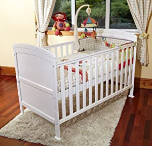 Poppy s PLAYGORUND New Baby Penelope Luxury COT Bed  amp  Safety Sprung Mattress-COTBED Junior Bed White