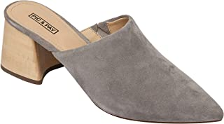 Pic & Pay | Nomi | Flared Mid Height Block Heel Slip On Suede Mule (New Spring)