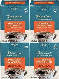 Teeccino Dandelion Tea – Caramel Nut – Rich & Roasted Herbal Tea That's Caffeine Free & Prebiotic with Detoxifying Dandeli...