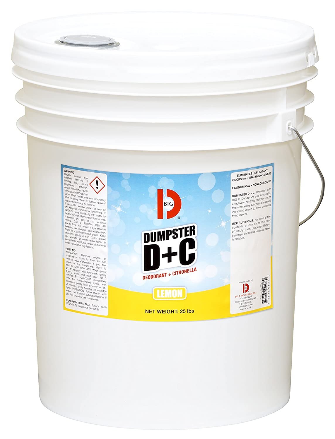 Big D Industries 178 Limited time sale Dumpster Bucket Neutral Plus 25lb Los Angeles Mall C