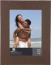 """إطار صور مزخرف بنمط الكتان بريز بوينت، 12.7 سم × 17.78 سم، بني 4"""" x 6"""" A38646"""