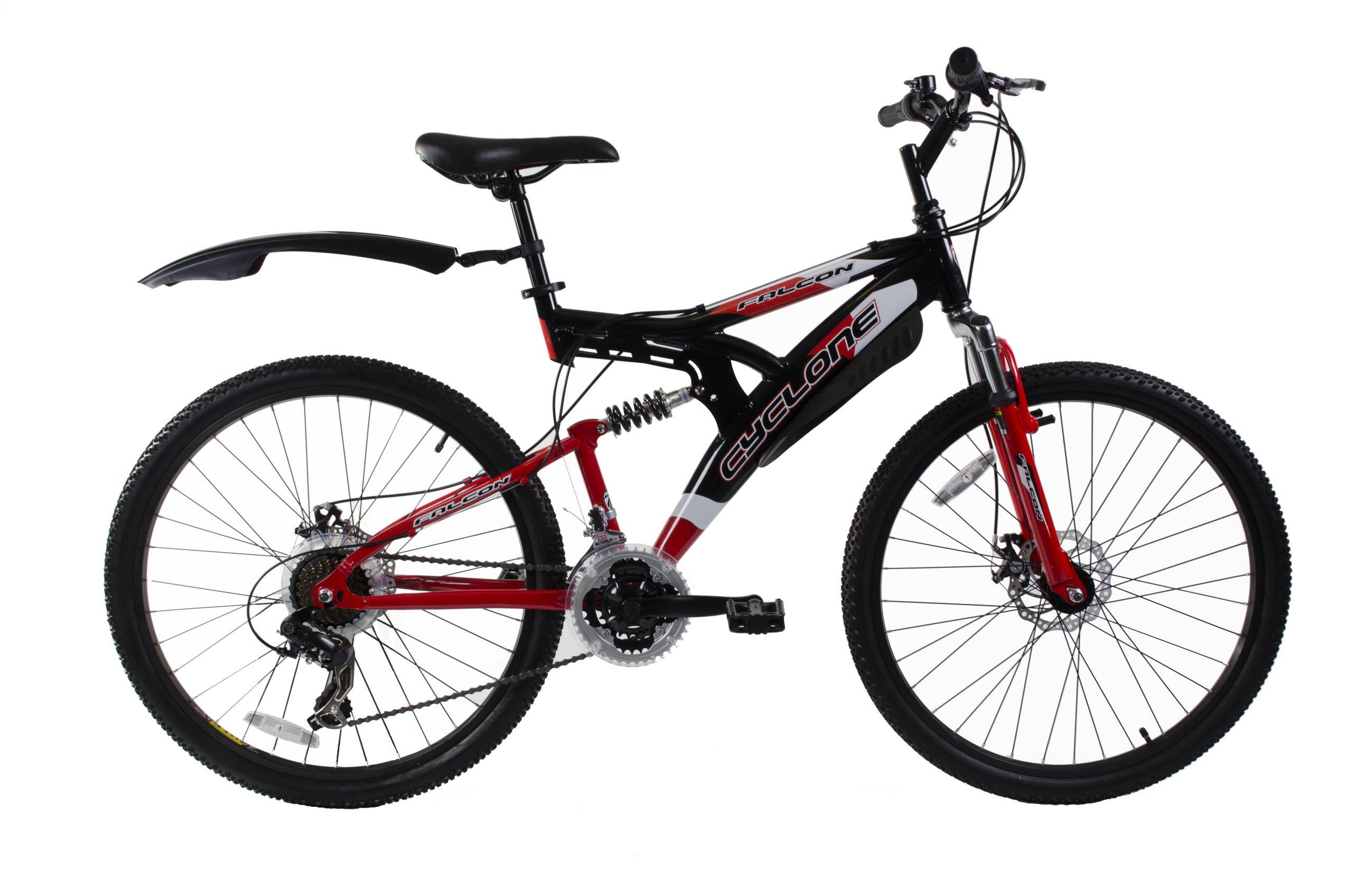 FALCON Cyclone - Bicicleta de Doble suspensión para Hombre, tamaño ...