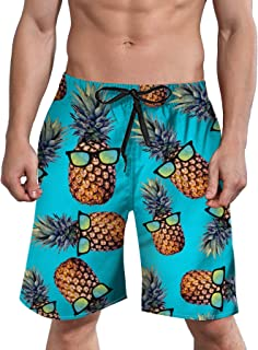 ALISISTER Mens 3D Swim Trunks Quick Dry Summer Underwear Surf Beach Shorts Elastic Waist with Pocket Drawstring