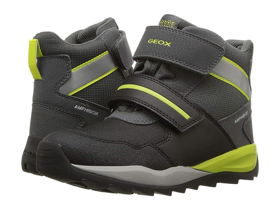 Geox Kids Orizont Boy Abx 11 (Little Kid/Big Kid) (Black/Lime) Boy