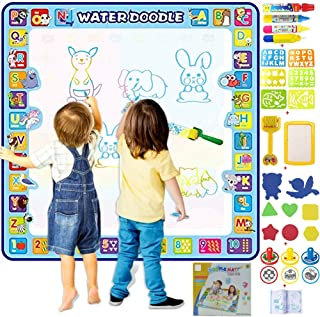 HomeXdot® Aqua Magic Doodle Mat for Kids – 100 X 100 cm Gift for 3 4 5 6 7 8 9 Years Old Boys Girls