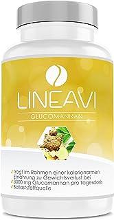 LINEAVI Glucomanano, 3000 mg de glucomanano, fibra natural