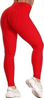 SEASUM Leggins Donna Sportivi Anticellulite Sexy Pantaloni Compressione Nido d'Ape 3D Leggings Push up Vita Alta Yoga Pant...