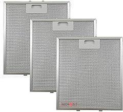 Kit de 3 unidades. Filtros de aluminio para campanas