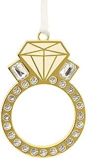Hallmark Engagement Ring Bachelorette Metal Signature Premium Christmas Ornaments