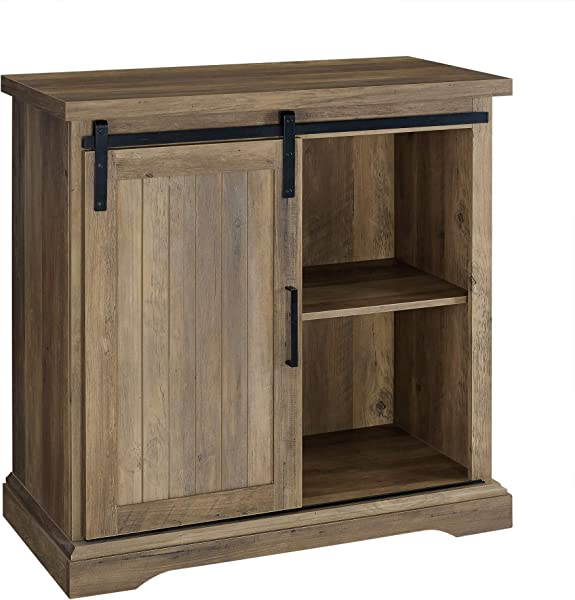 WE Furniture AZF32ALGRDRO Buffet 32 Rustic Oak